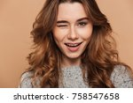 close up photo of young... | Shutterstock . vector #758547658