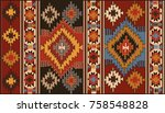 persian rug  tribal vector... | Shutterstock .eps vector #758548828