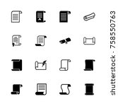 scrolls and papers icons  ... | Shutterstock .eps vector #758550763