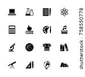 school subject icons   expand... | Shutterstock .eps vector #758550778