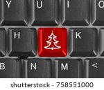 computer keyboard with... | Shutterstock . vector #758551000
