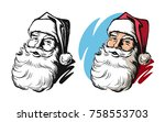 Portrait Of Santa Claus Head....