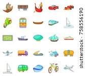 changing world icons set.... | Shutterstock .eps vector #758556190