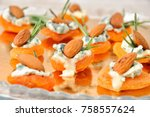 cocktail snack from dried...   Shutterstock . vector #758557624