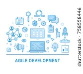 agile development vector.... | Shutterstock .eps vector #758558446