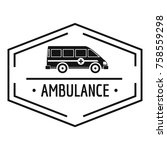 ambulance newborn logo. simple... | Shutterstock .eps vector #758559298
