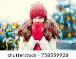 Young Beautiful Girl In Winter