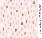 brush strokes pattern. seamless ... | Shutterstock .eps vector #758566588