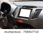 multimedia system with an... | Shutterstock . vector #758567710