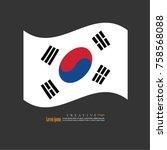 south korea  national flag...   Shutterstock .eps vector #758568088