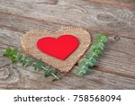 Decorative Red Wooden Heart On...