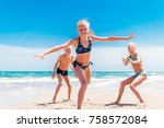 kids are playing and having fun.... | Shutterstock . vector #758572084