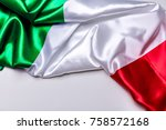 authentic flag of the italy   Shutterstock . vector #758572168