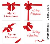 set gift card vector... | Shutterstock .eps vector #758576878