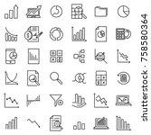 modern outline style analytic... | Shutterstock .eps vector #758580364