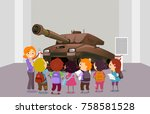 illustration of stickman kids... | Shutterstock .eps vector #758581528