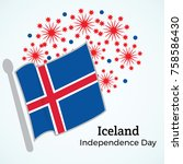 iceland  independence day...   Shutterstock .eps vector #758586430