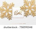 french text joyeux noel.... | Shutterstock .eps vector #758590348