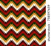 ethnic seamless pattern with... | Shutterstock .eps vector #758597659