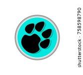 animal paw icon illustration | Shutterstock .eps vector #758598790