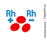 rh factor blood | Shutterstock .eps vector #758599714