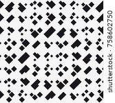 vector seamless pattern. modern ... | Shutterstock .eps vector #758602750