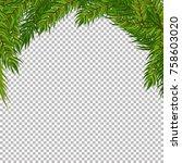 christmas vector tree... | Shutterstock .eps vector #758603020