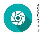 shutter circle flat | Shutterstock .eps vector #758603284