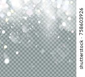 falling christmas shining... | Shutterstock .eps vector #758603926