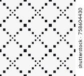 vector seamless pattern. modern ... | Shutterstock .eps vector #758604430