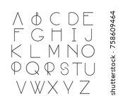 thin line style  linear modern... | Shutterstock .eps vector #758609464