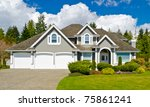 luxury house in vancouver ...   Shutterstock . vector #75861241