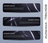abstract vector banners with... | Shutterstock .eps vector #758614048