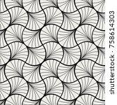 art deco seamless pattern.... | Shutterstock .eps vector #758614303