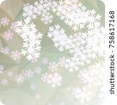 abstract winter background with ... | Shutterstock . vector #758617168