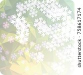 abstract winter background with ...   Shutterstock . vector #758617174