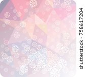 abstract winter background with ...   Shutterstock . vector #758617204