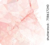 abstract winter background with ...   Shutterstock . vector #758617240