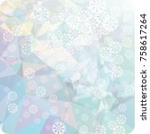 abstract winter background with ...   Shutterstock . vector #758617264