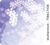 abstract winter background with ... | Shutterstock . vector #758617438