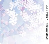 abstract winter background with ... | Shutterstock . vector #758617444