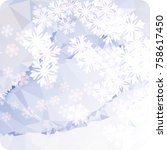 abstract winter background with ... | Shutterstock . vector #758617450