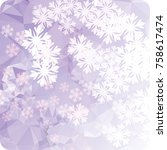 abstract winter background with ... | Shutterstock . vector #758617474