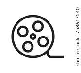 film reel icon   Shutterstock .eps vector #758617540