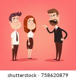 angry mad boss character... | Shutterstock .eps vector #758620879