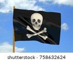 pirate flag   3d   Shutterstock . vector #758632624