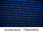 screen with software developer... | Shutterstock . vector #758634853