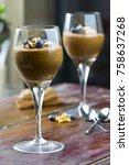 homemade vegan dark chocolate... | Shutterstock . vector #758637268