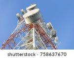 telecommunication mast tv...   Shutterstock . vector #758637670