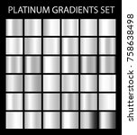 platinum silver gradients.... | Shutterstock . vector #758638498